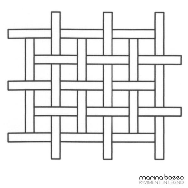 Pavimento in legno - Disegno Parquet - Posa 01