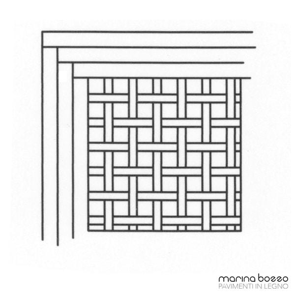 Pavimento in legno - Disegno Parquet - Posa 02