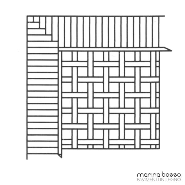 Pavimento in legno - Disegno Parquet - Posa 03