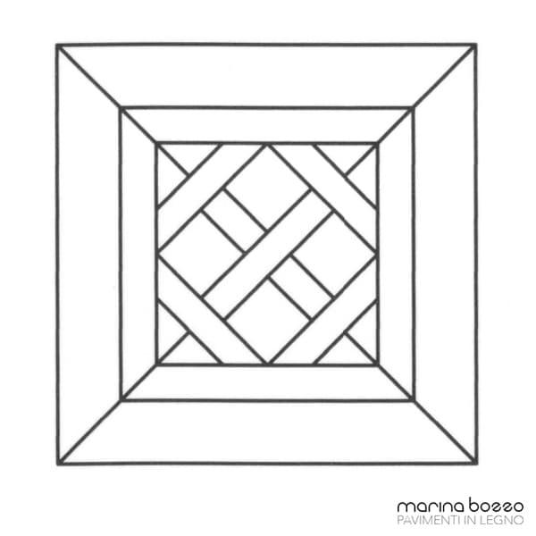 Pavimento in legno - Disegno Parquet - Posa 04