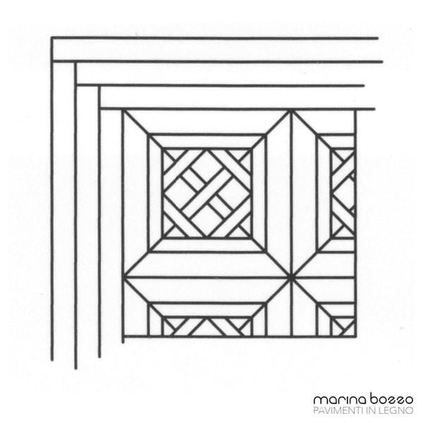 Pavimento in legno - Disegno Parquet - Posa 05