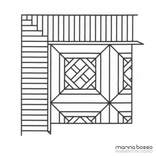 Pavimento in legno - Disegno Parquet - Posa 06