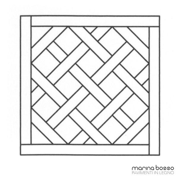 Pavimento in legno - Disegno Parquet - Posa 07