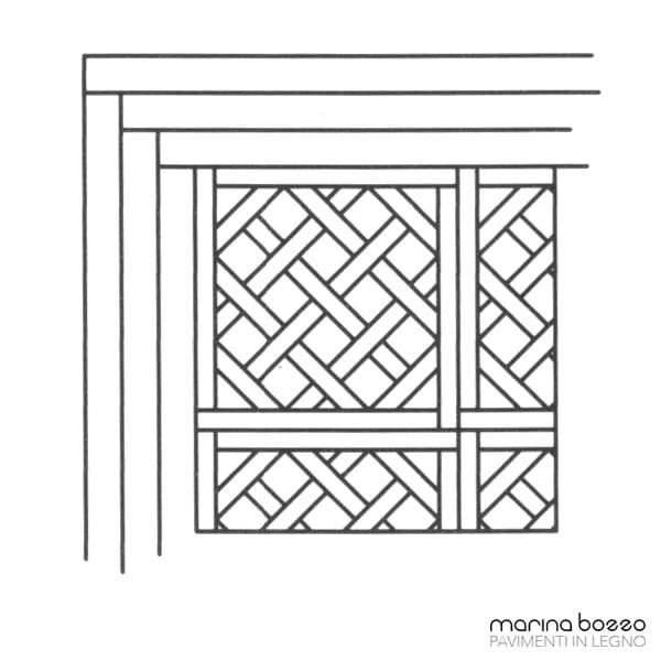 Pavimento in legno - Disegno Parquet - Posa 08