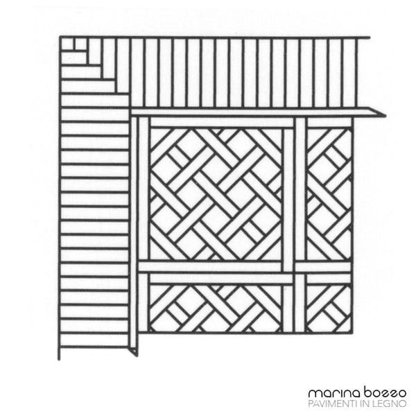 Pavimento in legno - Disegno Parquet - Posa 09