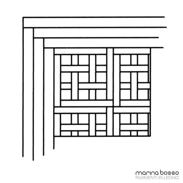 Pavimento in legno - Disegno Parquet - Posa 11