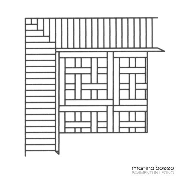 Pavimento in legno - Disegno Parquet - Posa 12
