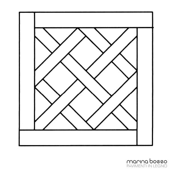 Pavimento in legno - Disegno Parquet - Posa 13