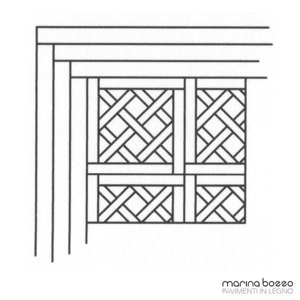Pavimento in legno - Disegno Parquet - Posa 14