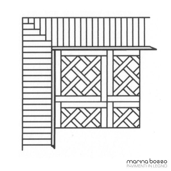 Pavimento in legno - Disegno Parquet - Posa 15