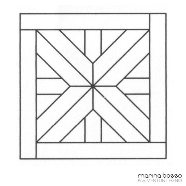 Pavimento in legno - Disegno Parquet - Posa 16