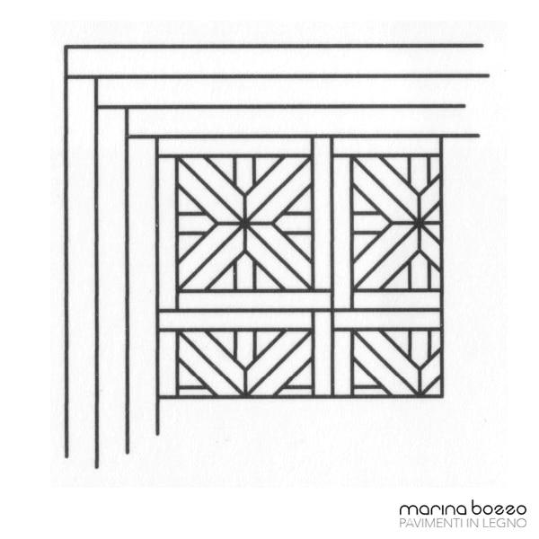 Pavimento in legno - Disegno Parquet - Posa 17