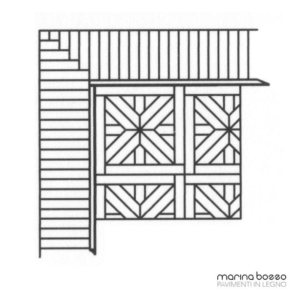 Pavimento in legno - Disegno Parquet - Posa 18