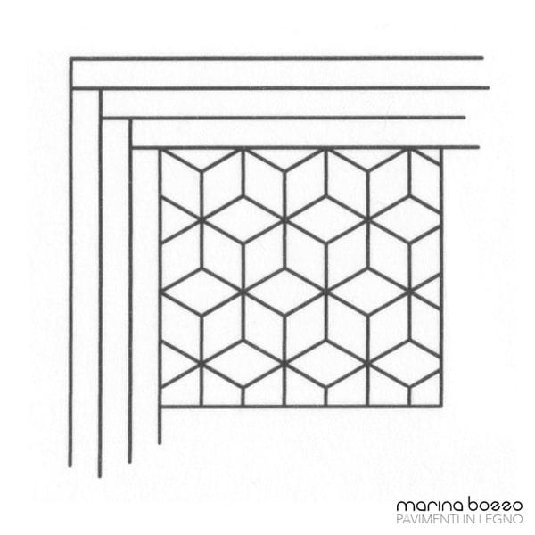 Pavimento in legno - Disegno Parquet - Posa 20