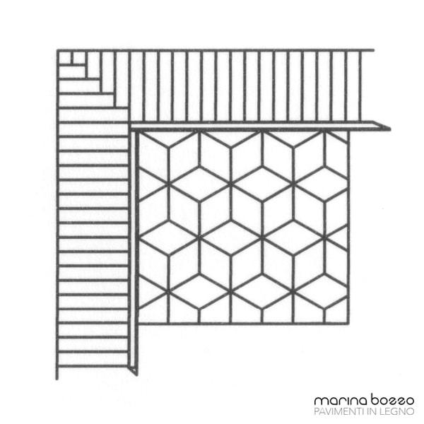 Pavimento in legno - Disegno Parquet - Posa 21
