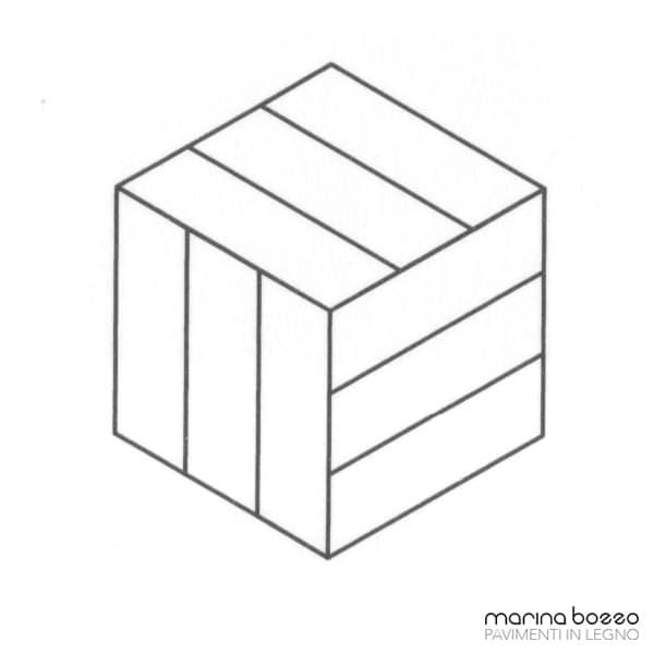 Pavimento in legno - Disegno Parquet - Posa 22