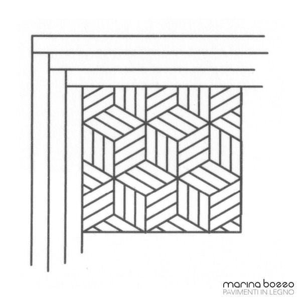 Pavimento in legno - Disegno Parquet - Posa 23