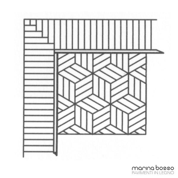 Pavimento in legno - Disegno Parquet - Posa 24