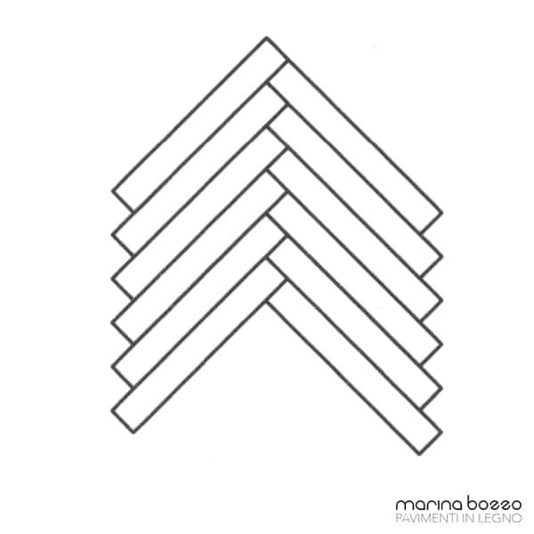 Pavimento in legno - Disegno Parquet - Posa 26