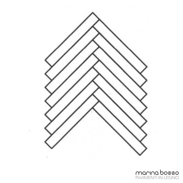 Pavimento in legno - Disegno Parquet - Posa 27 Marina Bozzo Pavimenti in Legno | Bozzo Parquet Chiavari