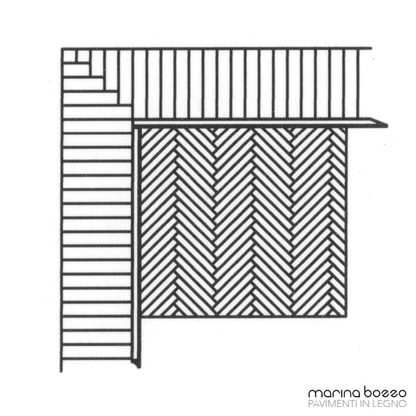 Pavimento in legno - Disegno Parquet - Posa 28 Marina Bozzo Pavimenti in Legno | Bozzo Parquet Chiavari