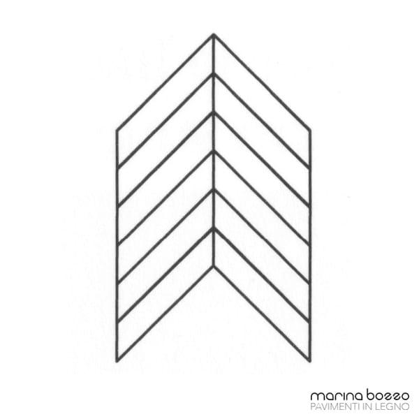 Pavimento in legno - Disegno Parquet - Posa 29 Marina Bozzo Pavimenti in Legno | Bozzo Parquet Chiavari