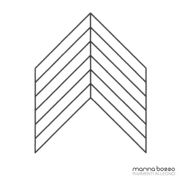 Pavimento in legno - Disegno Parquet - Posa 30 Marina Bozzo Pavimenti in Legno | Bozzo Parquet Chiavari