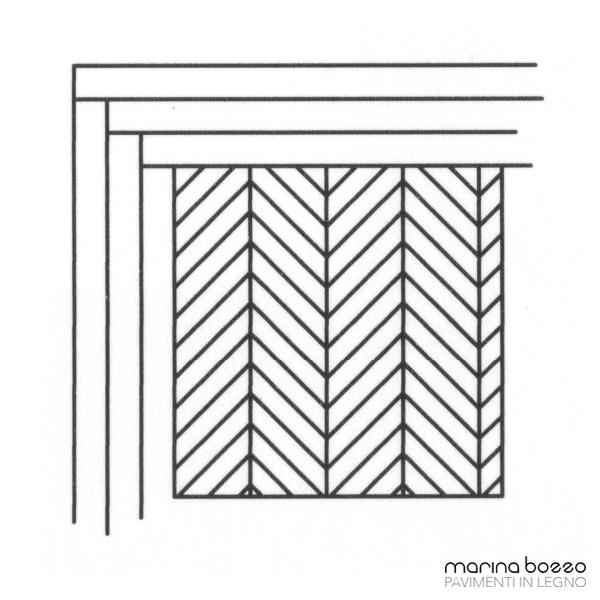 Pavimento in legno - Disegno Parquet - Posa 31 Marina Bozzo Pavimenti in Legno | Bozzo Parquet Chiavari