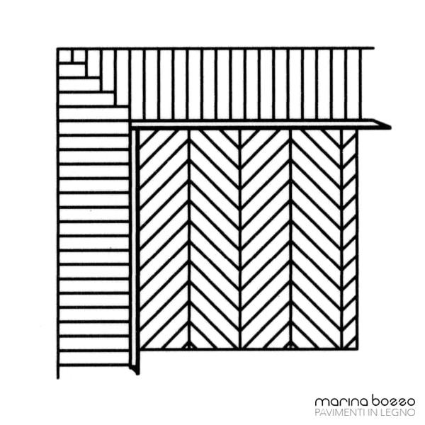 Pavimento in legno - Disegno Parquet - Posa 32 Marina Bozzo Pavimenti in Legno | Bozzo Parquet Chiavari